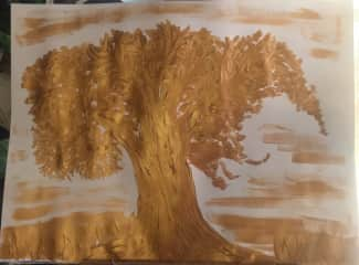 Painting i made of a tree .