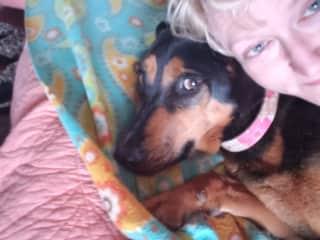 Our dog Dan & me