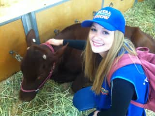I've studied and worked with animals big and small. This is me working at the Royal Melbourne Show
