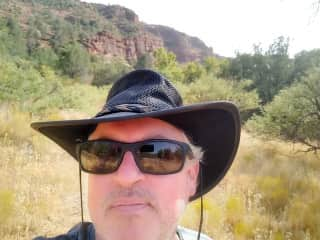 This is me out trail hiking in beautiful Sedona, Arizona.