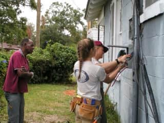Volunteer Katrina relief (electrical, construction) with International Relief Teams