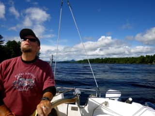 Brian sailing our Catalina 22