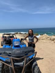 Family vacation to Cancun! Riding quad bikes along the beach