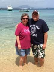 Jeannine and Jim in Sosua, Dominican Republic
