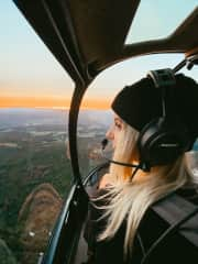 Helicopter ride in Vermont.
