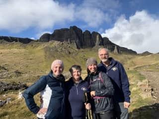My family enjoying Isle of Skye, Scotland.