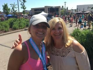 My daughter finishing her second half Marathon in Wisconsin