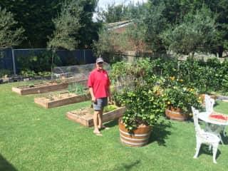 Rob in the garden