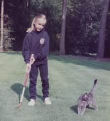 When I was a little girl with one of our cats