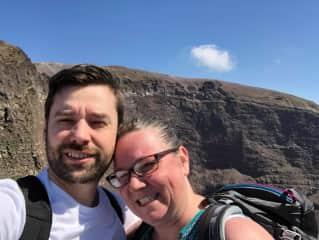Feeling the heat atop Mt Vesuvius