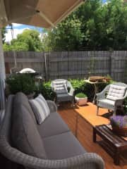 Relax on the back deck + BBQ