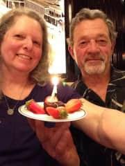 Ken and Cara celebrating an anniversary in Paris