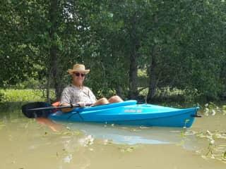 Dave Swangler kayaking