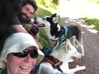 Walking Kira & Fionn
