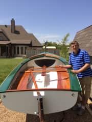 Alan rebuilding his sailboat