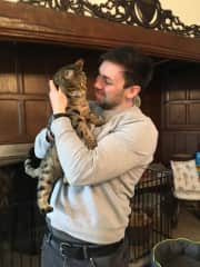 Andy and Tigger (she's not convinced)