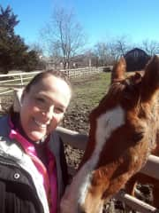 Hanging with a horse friend