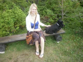 Me with the family dog a few years ago