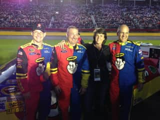 I sometimes do producing and this gig took me to my first NASCAR race. On the track with the crew at Charlotte Motor Speedway.
