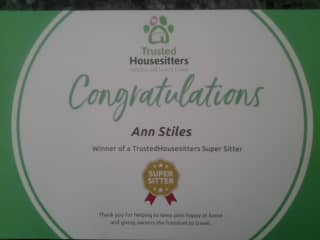 We are really proud of our 'Super Sitter' award and the reviews for which it was awarded.