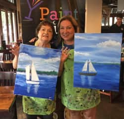 Painting with my aunt.