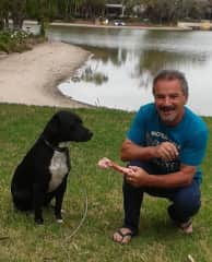 """Me with Gentleman """"TUX"""" of Patterson Lakes."""
