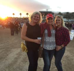 My sisters and I at our county fair concert. Im on the right