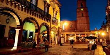town at night San Miguel de Allende