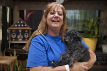 Brutus Beefcake, rescued at 15.  Blind, deaf and no teeth.  Happiest movst loving dog I've ever met!