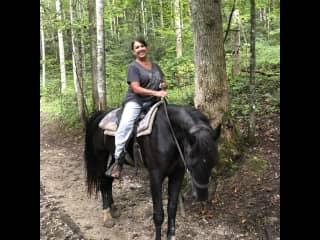 Enjoying a trail ride