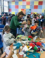 Giving a puppets' workshop in London