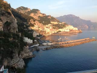 Amalfi Italy from our hotel patio.