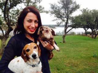 Alina & Hotdogs in Austin TX ;)