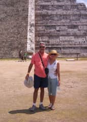 Joe participated in a sailboat race from Tampa, Florida to Isla Mujeres, Mexico. I met him there and we visited Chichen Itza and roamed the beaches.