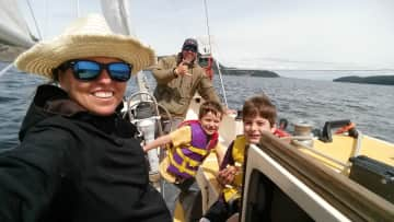 We love sailing and water sports!