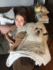 Emily with Charlie.