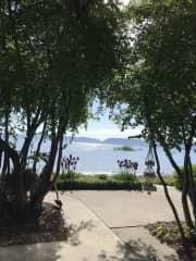 Patio in Garden City.  Bear lake