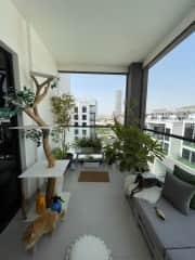 Balcony where the animals love to sun bathe