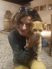 me and friend's cat