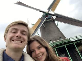 Traveling in Zaanse Schans, Netherlands