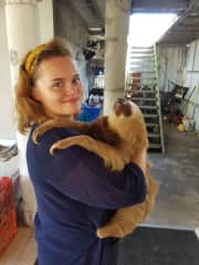 My self and a rescue sloth