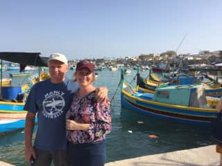 Deb and Jim in Malta on holiday.
