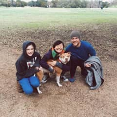 Me, Lily, and my cousin's daughter taking Dixie for a walk in Austin, TX.