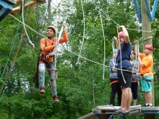 Having fun at Camp Rainbear
