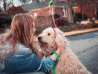 My dog Sam and I