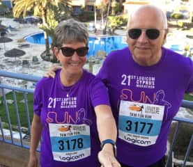 Paphos Marathon and  5/10km Run March 2019-our first ever 5 km!