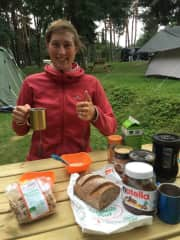 European cycle-tour (2016) with the must-have nutella. I have loved it since childhood.