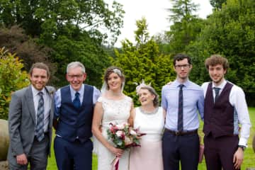 Meet the family, not often you get us all together, Keith USA, Brian NI, Claire UK ,Margaret NI,  Alan in Dublin and Adam UK