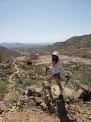 Hiking at Fountain Hills