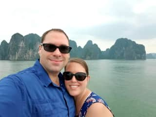 My husband and I enjoy traveling. This is Ha Long Bay, Vietnam.